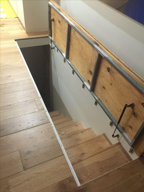 New hidden attic stairs trap door Ideas