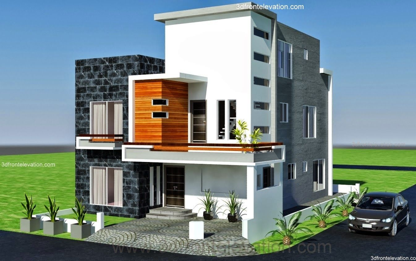 10 Marla ,modern architecture house plan-Corner Plot- DESIGN IN LAHORE …