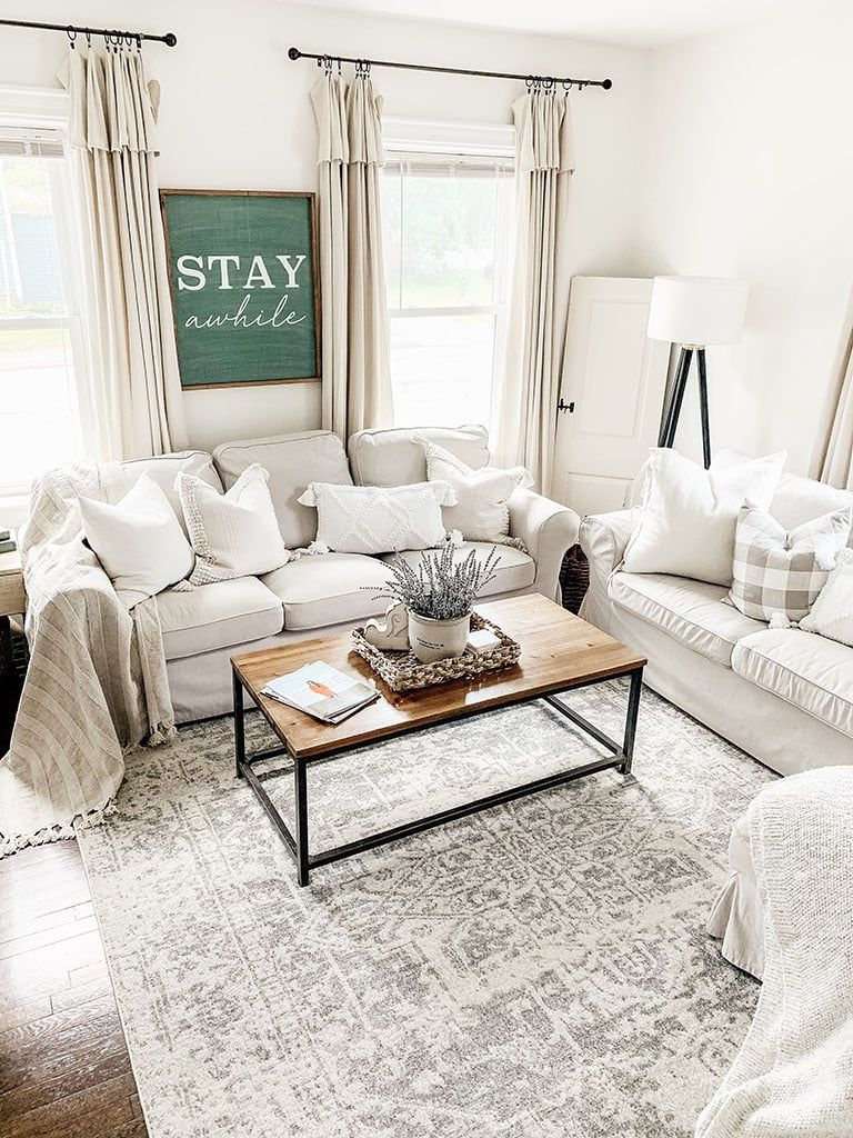 An honest review of the popular Harput 1024 rug from Boutique Rugs.com. Come see how I styled it in my summer living room. Neutral Rugs   Affordable Farmhouse Rug  