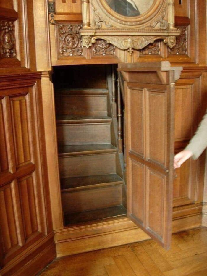 This is a hidden staircase leading to a secret room inside a 19th Century Victorian home.