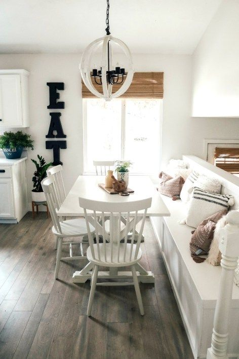 Maximizing your Eat-In Kitchen with a Banquette – Nesting With Grace