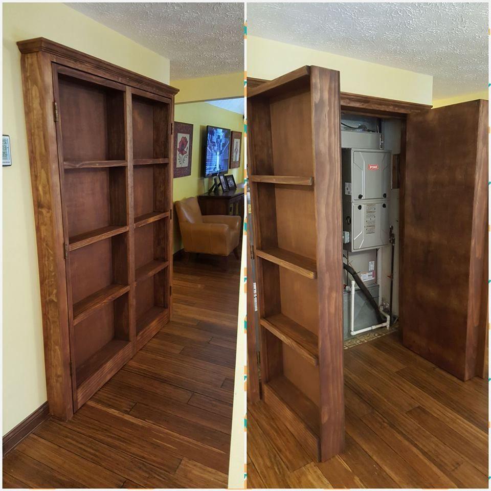 Bookshelf Hidden Doors Over Closet   Ana White