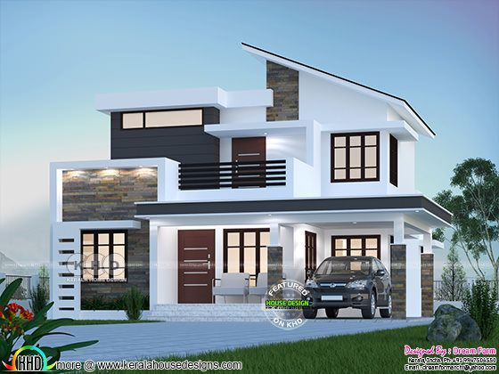 1875 sq-ft 4 bedroom modern house plan