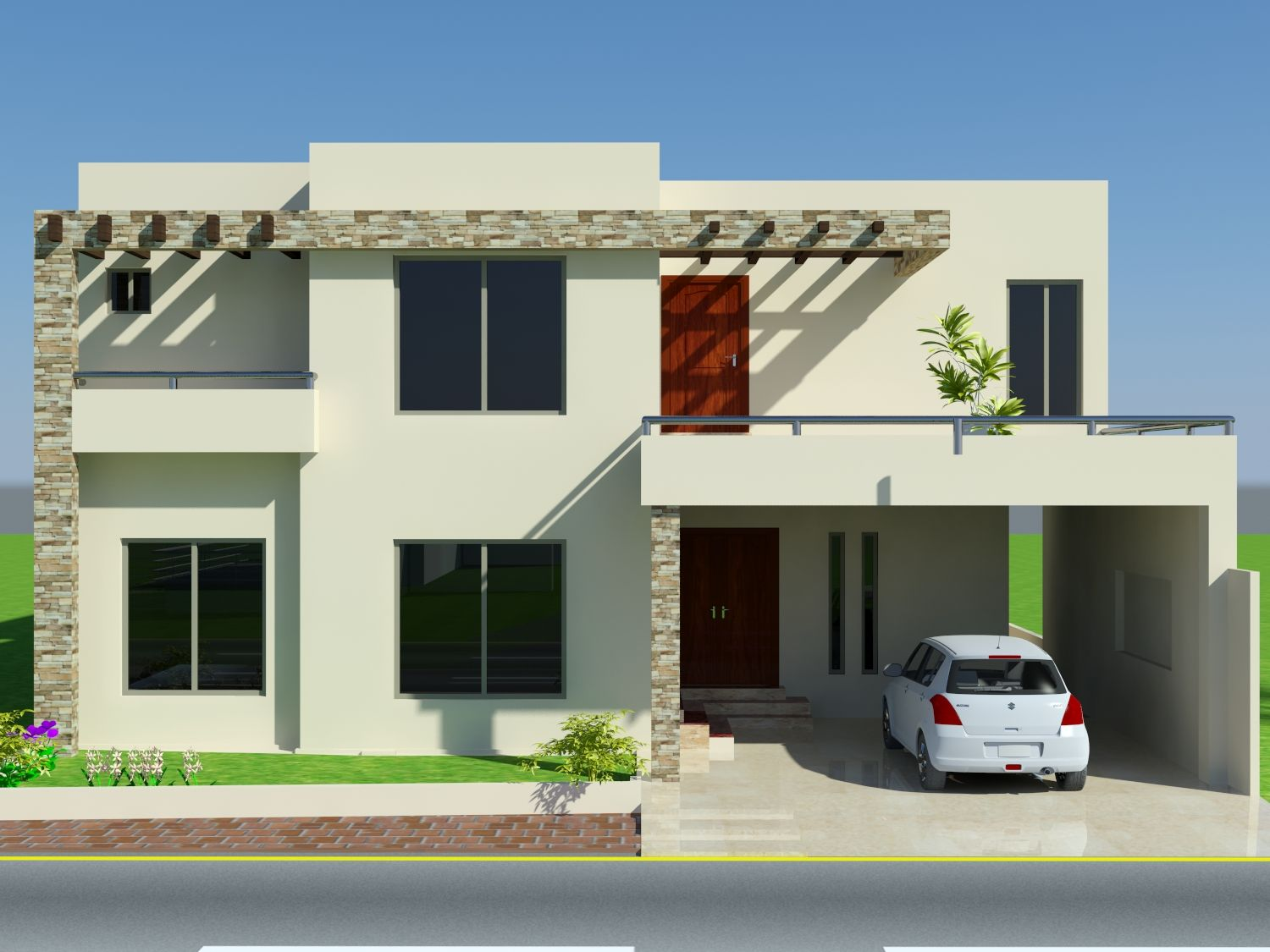Exterior House Design- Front Elevation
