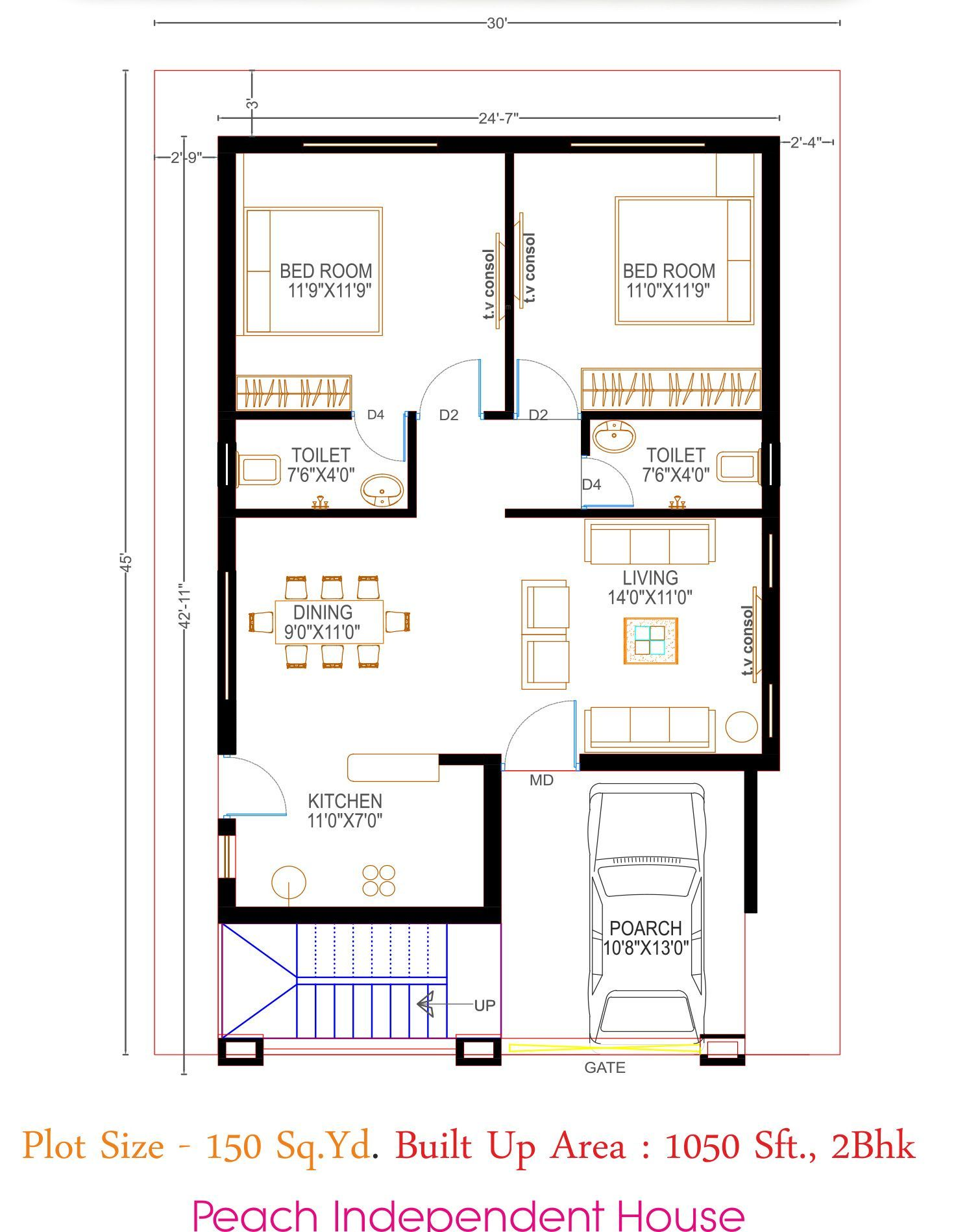 Luxury Plan Of 2bhk House (7) Meaning