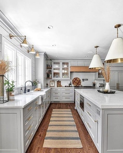 """Farmhouse Homes 🏡 on Instagram: """"What are your thoughts on this BEAUTIFUL gray kitchen? ❤️ We love this cabinet color! 👀 TAG a friend who will love this! ❤️👇…"""""""