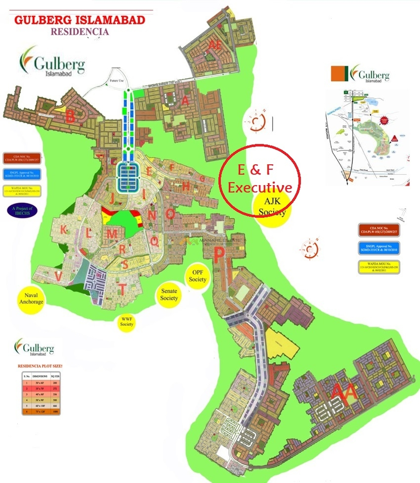 Gulberg Residence Master Plan EF Executive Location