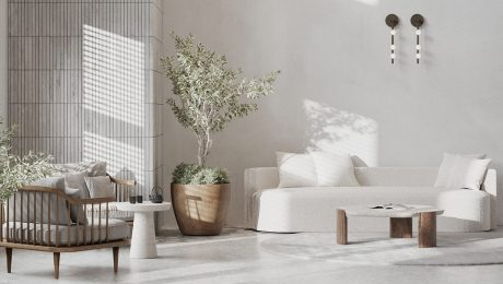 Living-Spaces-With-Grey-White-Wood