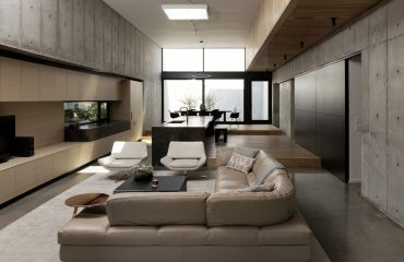 A-Beautifully-Landscaped-Brutalist-House-Visualized