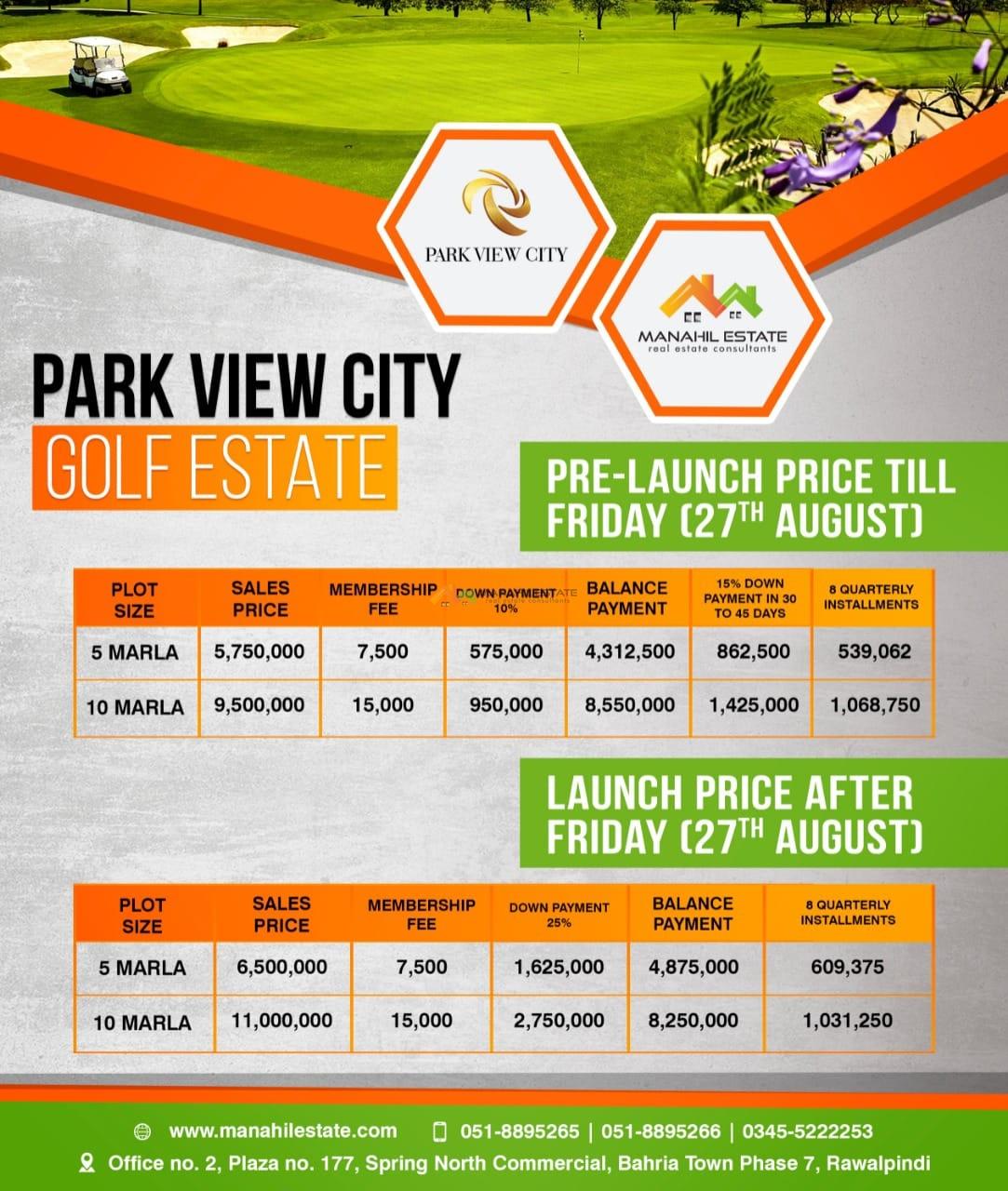 Park City Golf Farm Prices