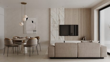 Clean-cut-White-Marble-and-Wood-Accent-Interiors
